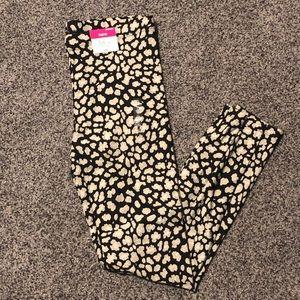 Flirtitude Active Leggings Black Cheetah MediumNWT